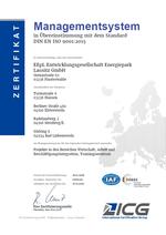 Zertifikat nach DIN ISO 9001:2015
